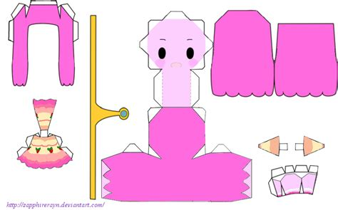 Princess Papercraft - princess bubblegum tart dress papercraft by sapphirerayn