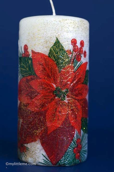 Decoupage Gift Ideas - candle decoupage gift craft fantastic viewpoint