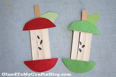 Apple Papercraft - easy fall crafts that anyone can make happiness is