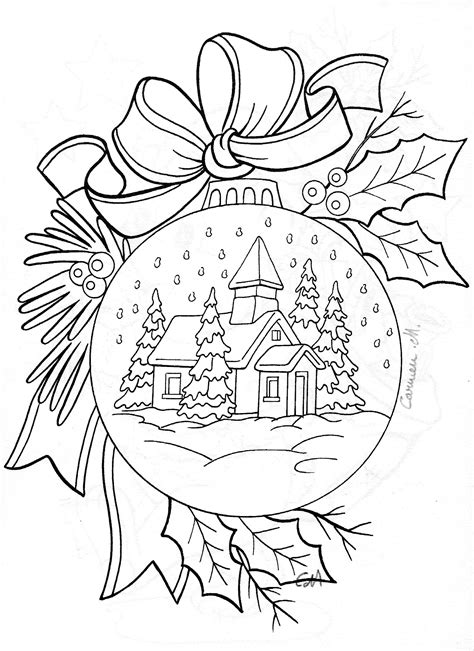 Coloring For Adults Kleuren Voor Volwassenen Natale Ornaments Coloring Pages For Adults