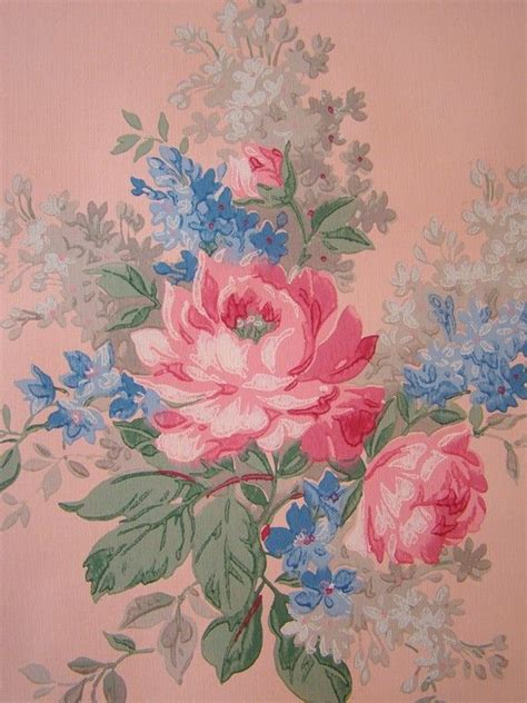 classic rose wallpaper vintage wallpaper large pink roses on salmon beautiful