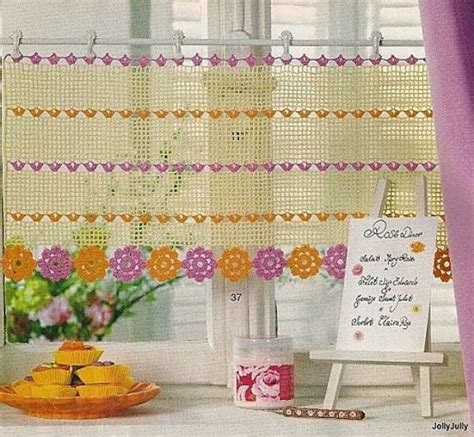 cute kitchen curtains 14 cute kitchen curtains crochet curtains pinterest