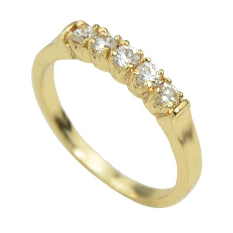 2017 cheap wholesale simple rhinestone gold ring
