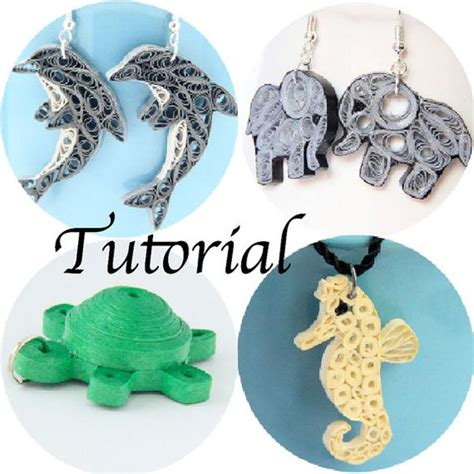 paper quilling jewellery tutorial pdf tutorial for paper quilled animal jewelry pdf dolphin