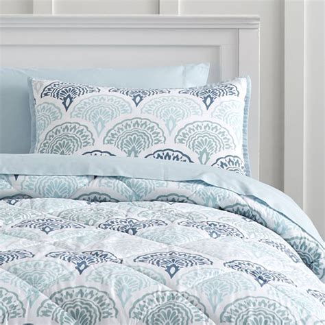 feather scallop value comforter set with sheets