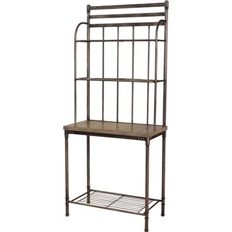 Bakers Rack Walmart by Hillsdale Bakers Rack Pewter And Washed Ash Walmart