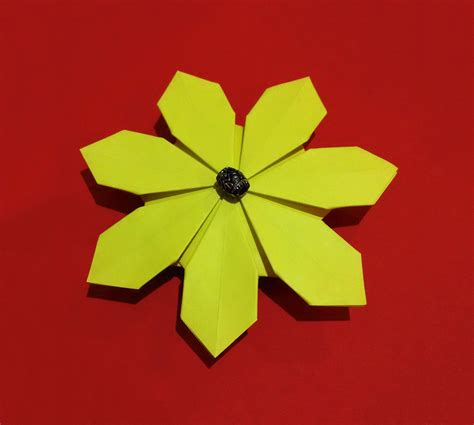 Easy Origami For Flower - easy origami flower simple and rich 3d paper flower