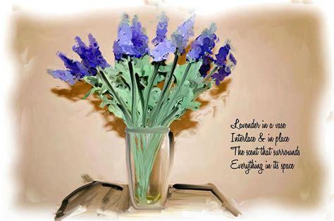 Vase Poem by Lavender In A Vase Poem Mixed Media By Phillip J Gordon