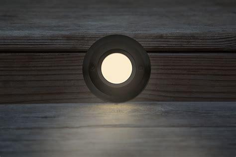 120v Led Step Lights Oil Rubbed Windowed Round Deck 120v Led Light