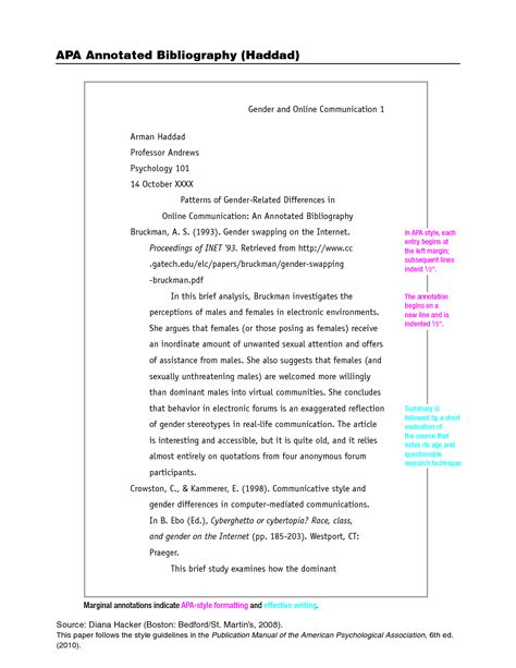 research paper writing style apa reference list template