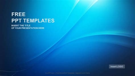 blue wave abstract powerpoint templates download free