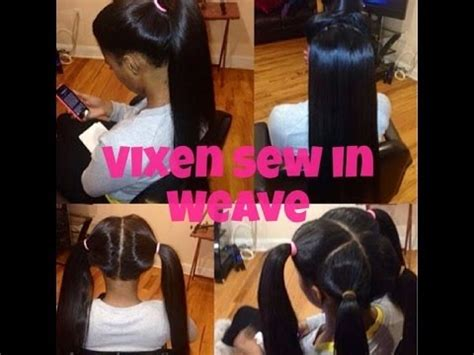 4 Part Vixen Sew In With A 12 And 14 In | vixen sew in hair weave 4 part weave youtube