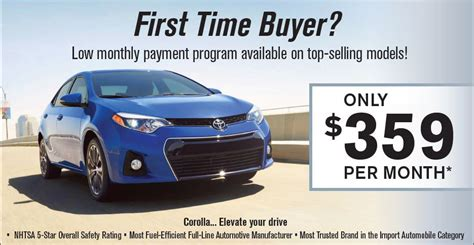 pay my toyota payment first time buyers get low monthly payments on the toyota