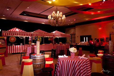 big top bar carnival theme bar mitzvah party ideas photo 7 of 14