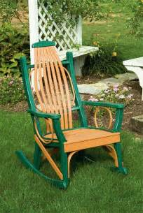 amish outdoor rocking chairs polywood outdoor porch rocker amish furniture 3380