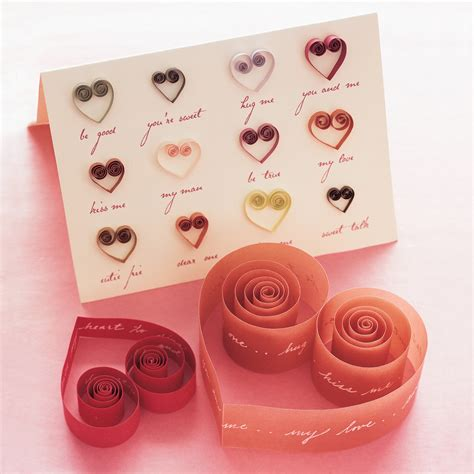 how to make quilled cards quilled valentines and cards martha stewart