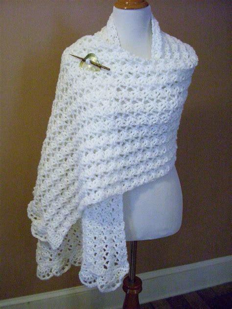 easy prayer shawl crochet pattern one skein summer wrap by marty miller free crochet