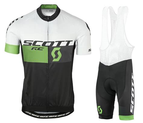 2016 rc white green black cycling jersey and bib shorts