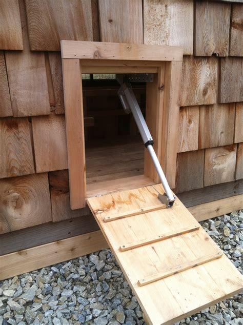 Solar Chicken Door by Solar Powered Chicken Coop Door