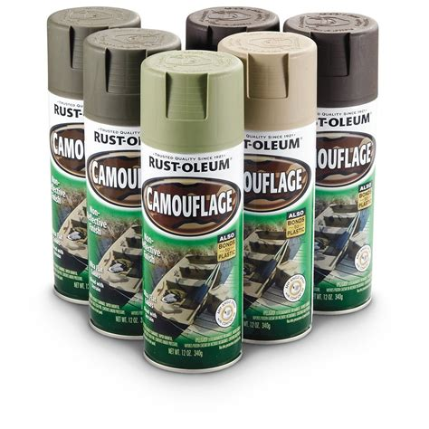 spray paint supplies kit rust oleum 269038 camouflage spray paint 6 pack kit ebay