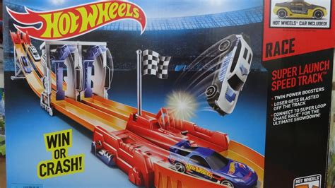 Wheels Track Mega Rally Set hotwheels track set launch speed track pista