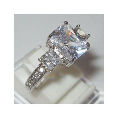 Kotak Cincin Putih Jewellery Box cincin fashion bahan white gold filled 10k cz zircon harga