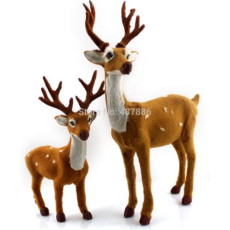 christmas decoration deer plush christmas reindeer crafts