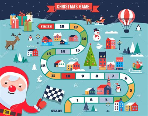 printable winter board games christmas village map winter town board game with