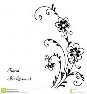 floral background design black and white clipartsgram com