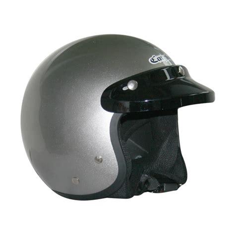 Helm Monton Black Glossy Original jual beli helm retro silver metal bogo baru helm half murah berkualitas