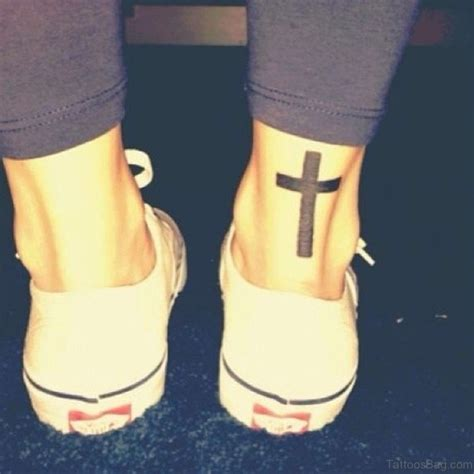 80 great cross tattoos for ankle