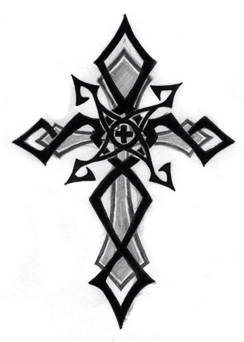 black and white cross tattoos cliparts co