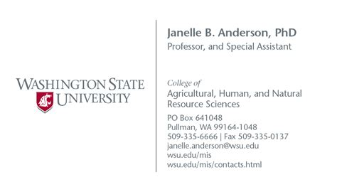 Uw Business Card Template of washington business card template phd