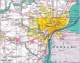 us map with detroit u s metropolitan area maps perry casta 241 eda map