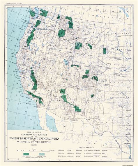 united states map with national parks state map western forest reserves national parks