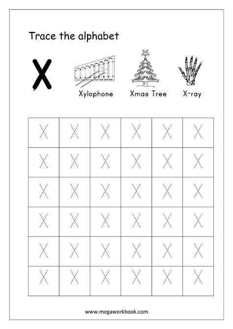 Letter X letter x tracing worksheets www pixshark images