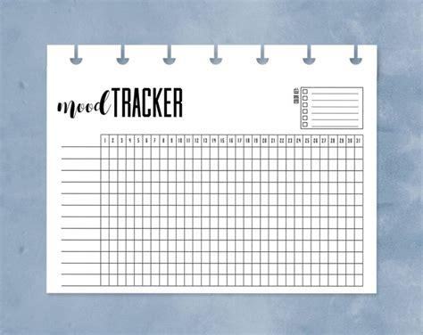 free printable mood journal mood tracker happy planner mini mood chart printable one
