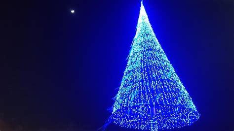 arbol navidad azul rbol de navidad azul elctrico bajo la en las canteras