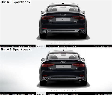 Audi A5 R Ckleuchten by Audi A5 Rueckleuchten Vergleich A5 Reihe Neuerungen Mj