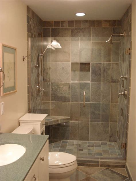 ideas for showers in small bathrooms small bathroom corner shower ideas black color stone wash