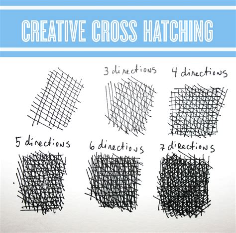 3 Drawing Techniques by Drawing Workshop Creative Cross Hatching Techniques