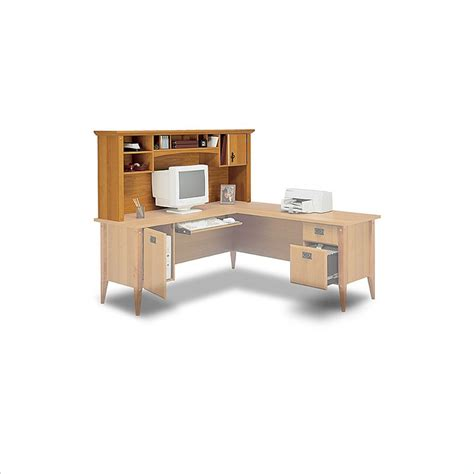 Office Desk L Shape Bush Furniture Mission L Shape Wood Home Office Desk Ebay
