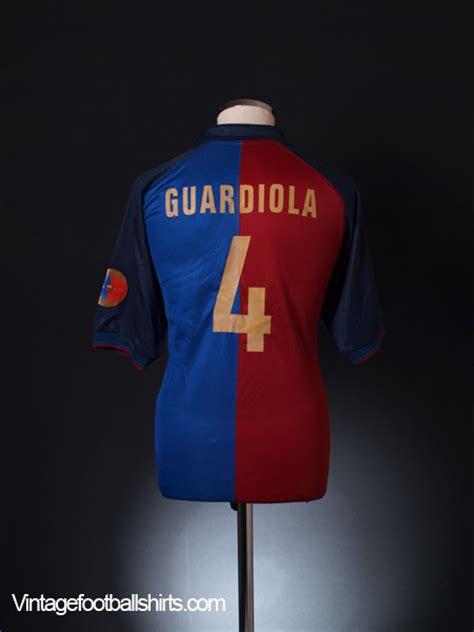 Jersey Retro Barcelona Centenary 1999 Home 1999 00 barcelona centenary home shirt guardiola 4 m for sale