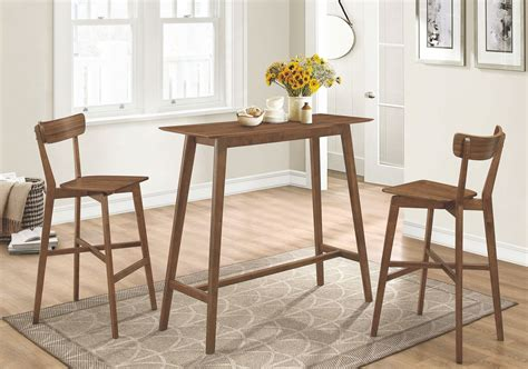 rec room furniture rec room walnut bar stool set of 2 101449 coaster furniture