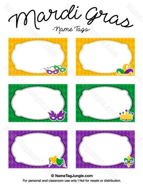 Printable Mardi Gras Cards