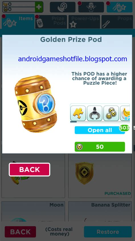minion hack apk despicable me minion v4 1 0h mod apk unlimited tokens bananas hack tools and