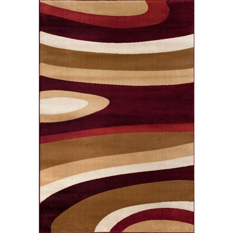 2 x5 rug world rug gallery abstract contemporary modern burgundy 3