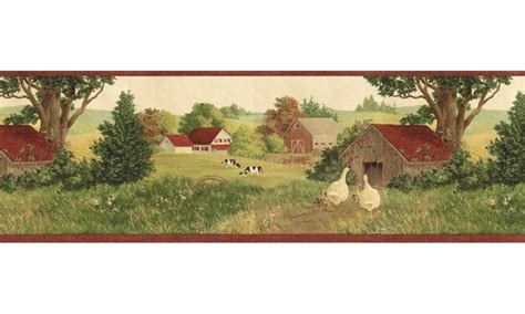 Country Wallpaper Borders For Bedrooms by Country Wallpaper Border B7118afr