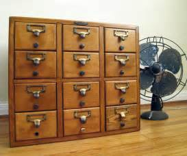 Antique Metal File Cabinet Reserved Vintage Card Catalog 12 Drawer Remington Rand Wood
