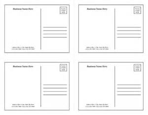 Postcard Template 4 Per Page by Postcard Template 1